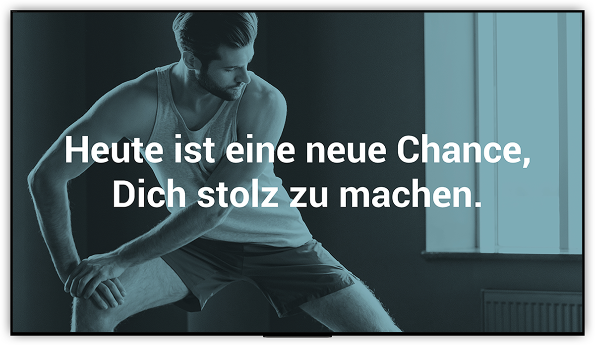 Kursplan Motivation Digital Signage für Fitnessclubs